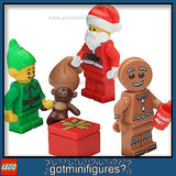 LEGO Christmas -SANTA - ELF - GINGERBREAD MAN - minifigures