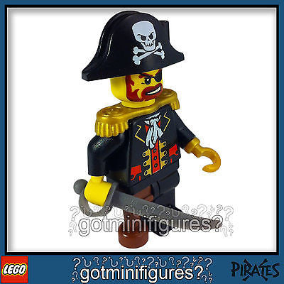 LEGO Pirates CAPTAIN BRICKBEARD minifigure 6299