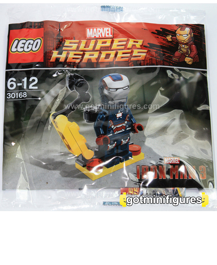 "LEGO MARVEL Super Heroes IRON MAN ""Patriot"" Gun Mounting polybag  minifigure #30168"