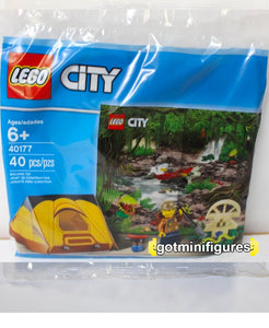 LEGO City JUNGLE EXPLORER KIT tent polybag minifigure 40177