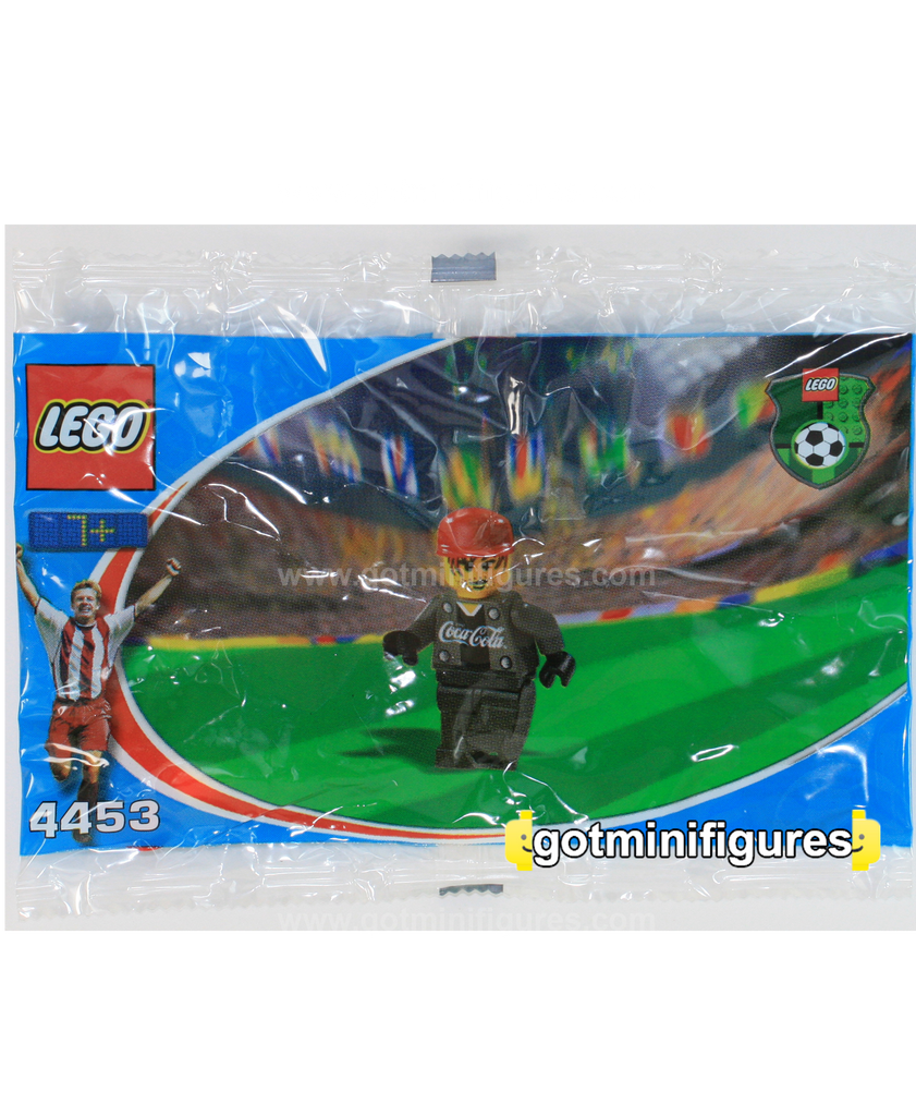 LEGO COCA COLA GOAL KEEPER black grey Team Soccer polybag minifigure 4453