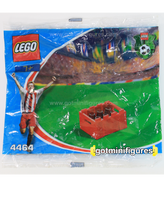 LEGO COCA COLA BOTTLE CASE 6 pack Soccer polybag minifigure 4464