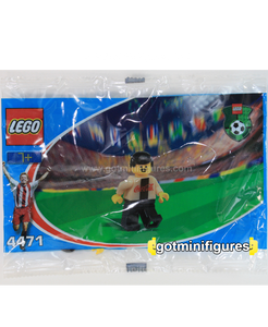 LEGO COCA COLA SECRET PLAYER A gold Soccer polybag minifigure 4471