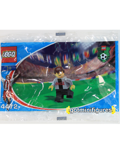LEGO COCA COLA SECRET PLAYER B silver Soccer polybag minifigure 4472