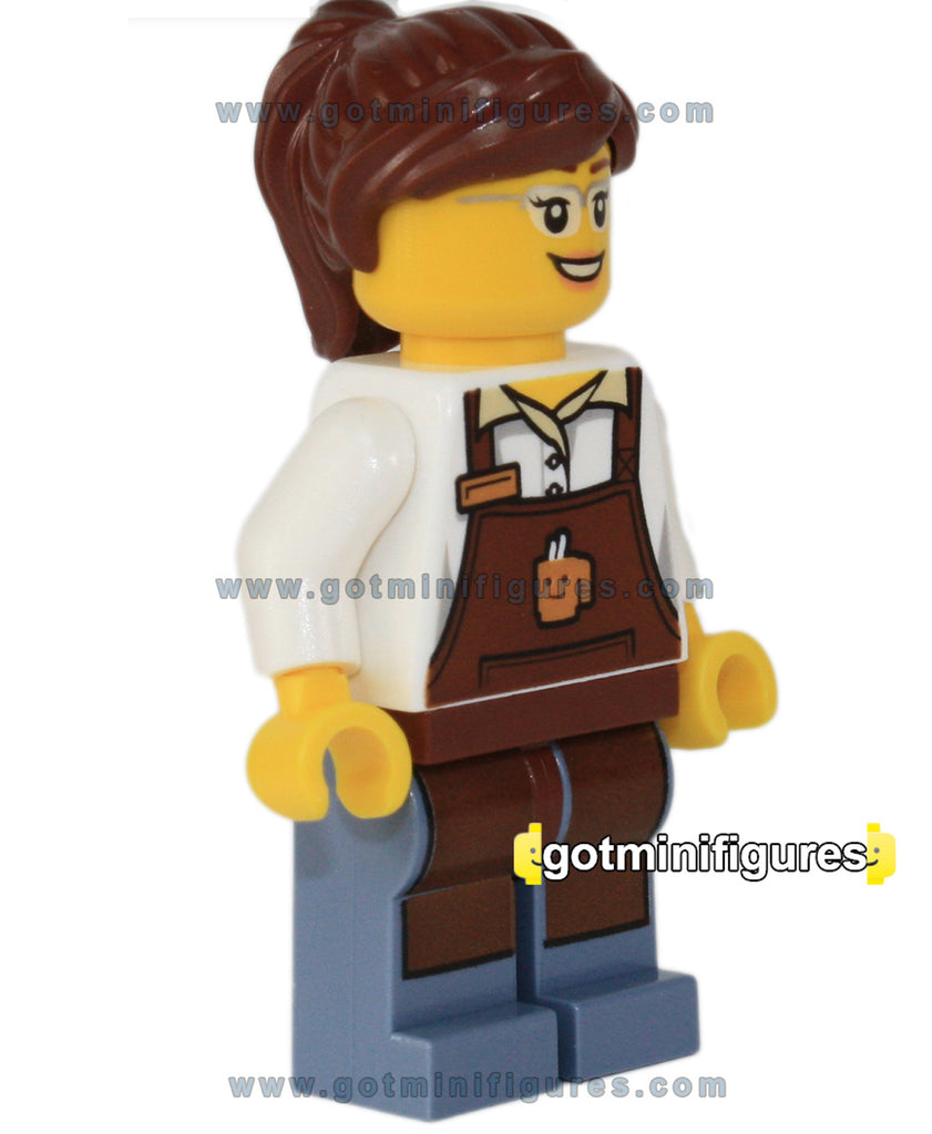 LEGO City Square BARISTA w/ Apron and cup print minifigure #60097