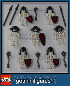 LEGO RED DRAGON SKELETON Knights minifigures x7
