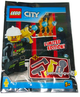 LEGO City FIREMAN minifigure 951704 FOIL PACK