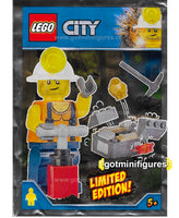LEGO City MINER minifigure 951806 FOIL PACK