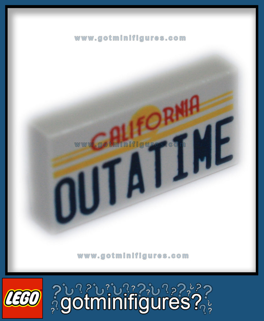 LEGO CALIFORNIA LICENCE PLATE OUTATIME (Back to the future)