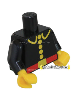 LEGO - TORSO 5 button, red belt (classic Firemen) for minifigure