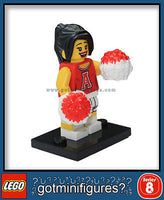 Series 8 LEGO RED CHEERLEADER minifigure  8833