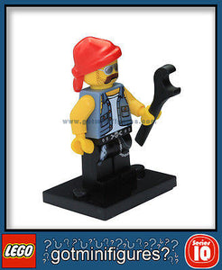 Series 10 LEGO MOTORCYCLE MECHANIC minifigure 71001
