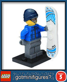 Series 5 LEGO SNOWBOARDER GUY minifigure 8805