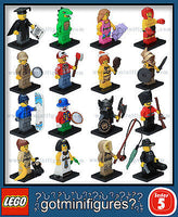 Series 5 LEGO COMPLETE SET of 16 minifigures  8805