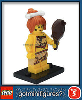 Series 5 LEGO CAVE WOMAN minifigure 8805