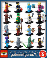 Series 6 LEGO COMPLETE SET of 16 minifigures  8827