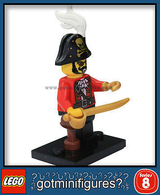 Series 8 LEGO PIRATE CAPTAIN minifigure  8833