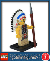 Series 3 LEGO TRIBAL CHIEF minifigure  8803