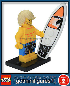 Series 2 LEGO SURFER minifigure 8684