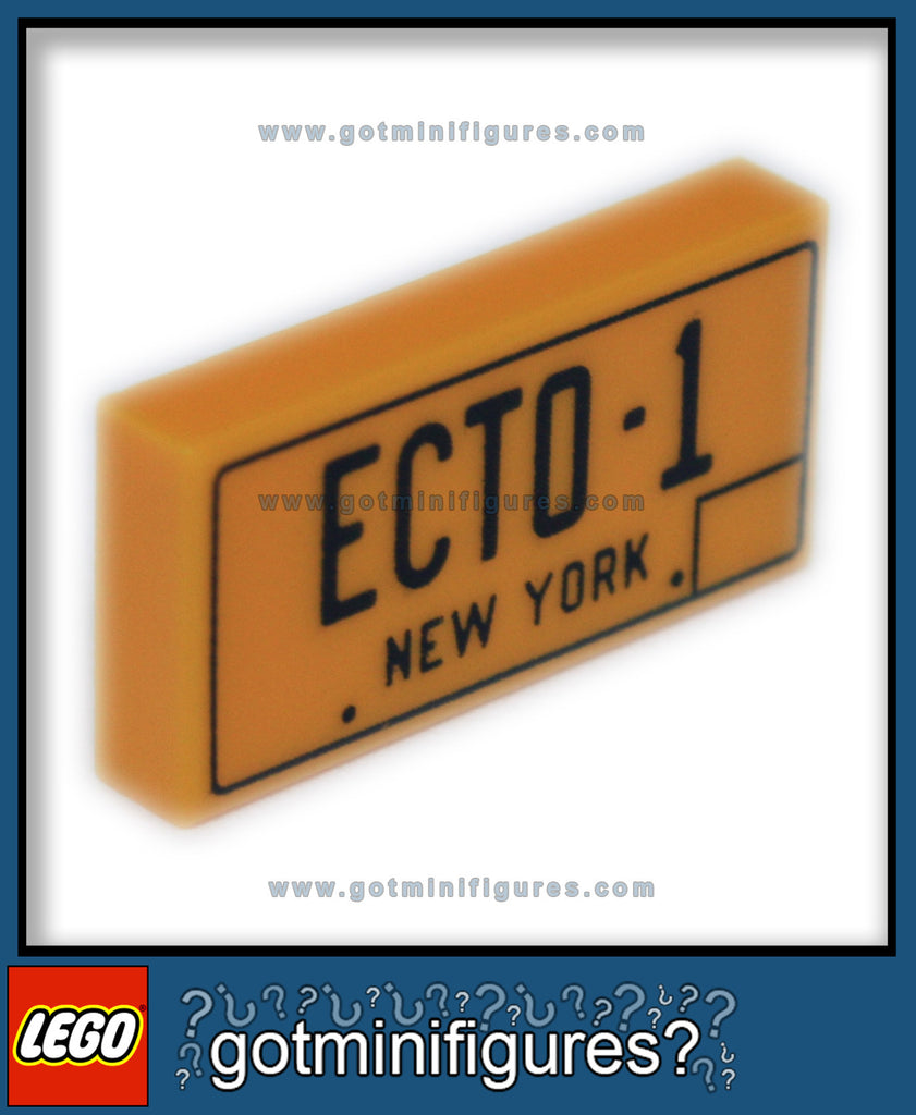 LEGO NEW YORK LICENCE PLATE ECTO-1 (Ghostbusters)