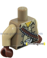 LEGO - TORSO Cowboy bullets, belt, tan (series 1) for minifigure
