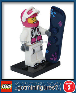 Series 3 LEGO SNOWBOARDER minifigure  8803