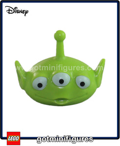 LEGO - HEAD (ALIEN, Lime green, 3 eyes, Toy Story) for minifigure
