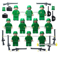 LEGO ARMY SOLDIERS lot of 10 minifigures