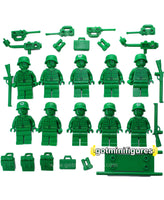 LEGO Toy Story GREEN ARMY MEN lot of 10x minifigures guns war BRAND NEW