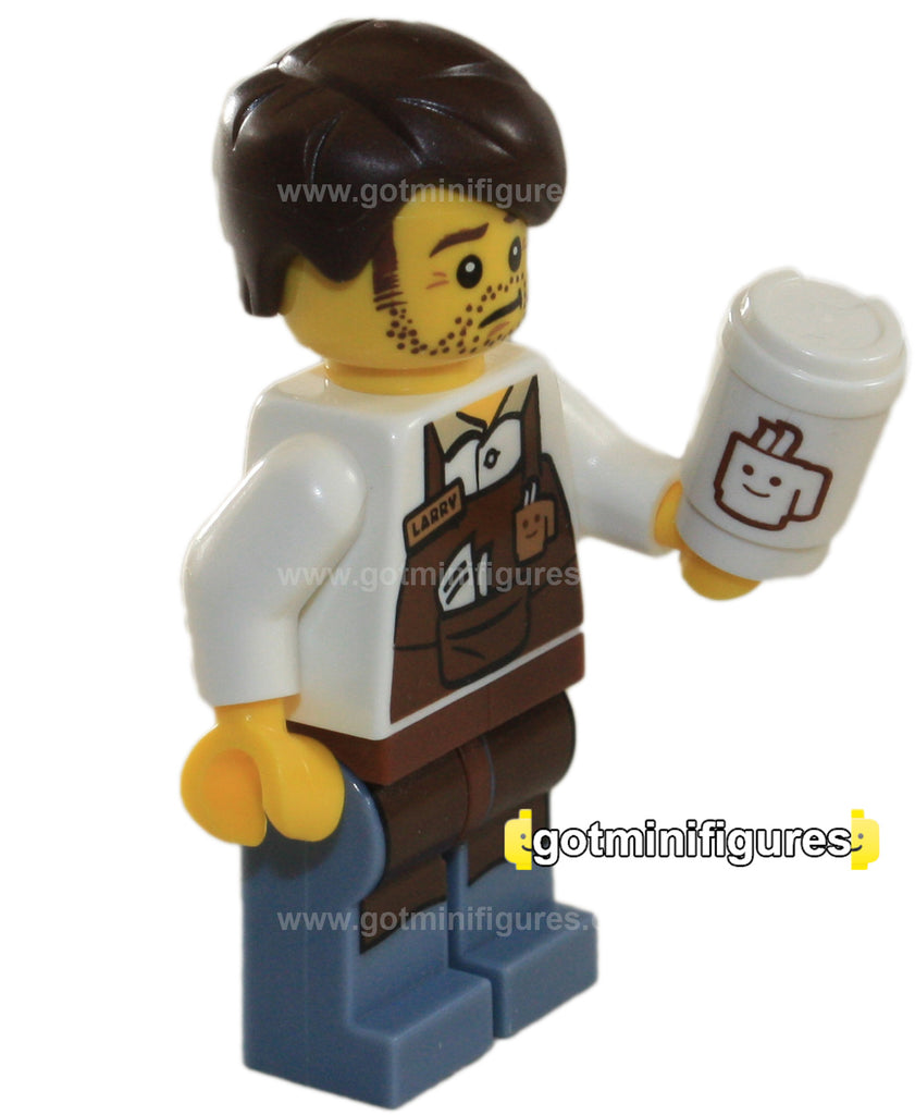 The LEGO MOVIE Series - LARRY THE BARISTA - minifigure NEW 71004