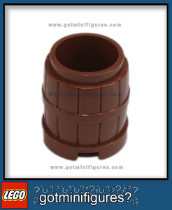 LEGO Reddish Brown BARREL for minifigure
