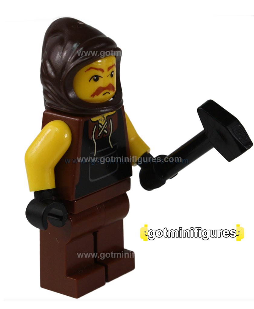 LEGO Castle BLACKSMITH with hammer (Style 01) minifigure