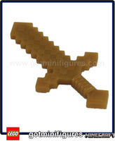 LEGO MINECRAFT - BLOCKY SWORD (Pearl Gold) for minifigure