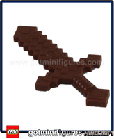 LEGO MINECRAFT - BLOCKY SWORD WOOD (rd brown) fits minifigures hand