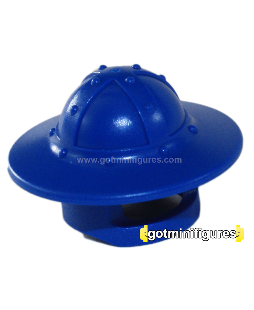 LEGO Blue Helmet broad brim headgear for minifigure