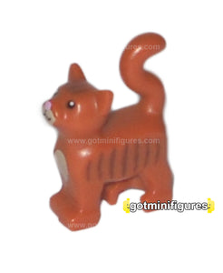LEGO CAT (Dk orange, stripes, pink nose) for minifigure