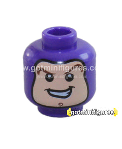 LEGO - HEAD (Balaclava, Dark purple, Buzz Lightyear) for minifigure