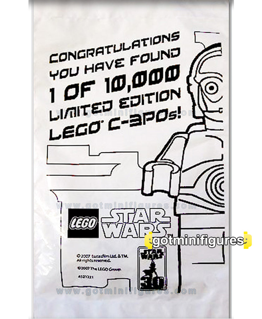 LEGO Star Wars GOLD C3PO  minifigure 1/10000