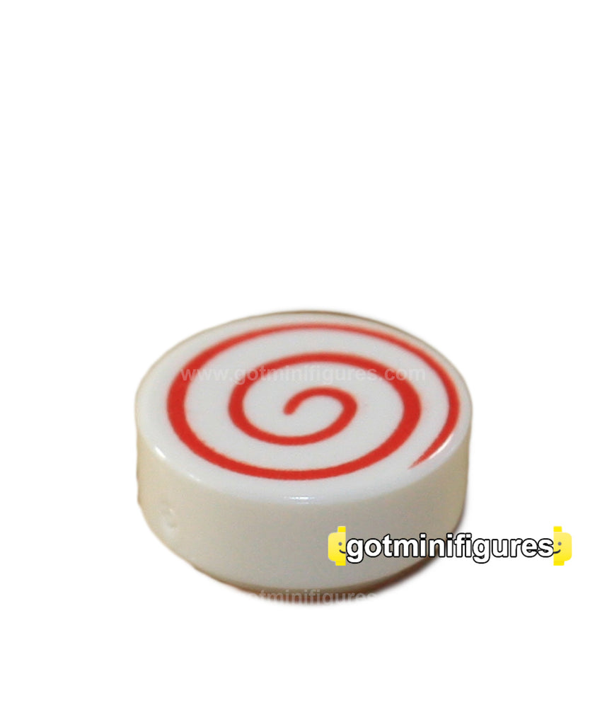 LEGO CANDY [White, spiral Red]