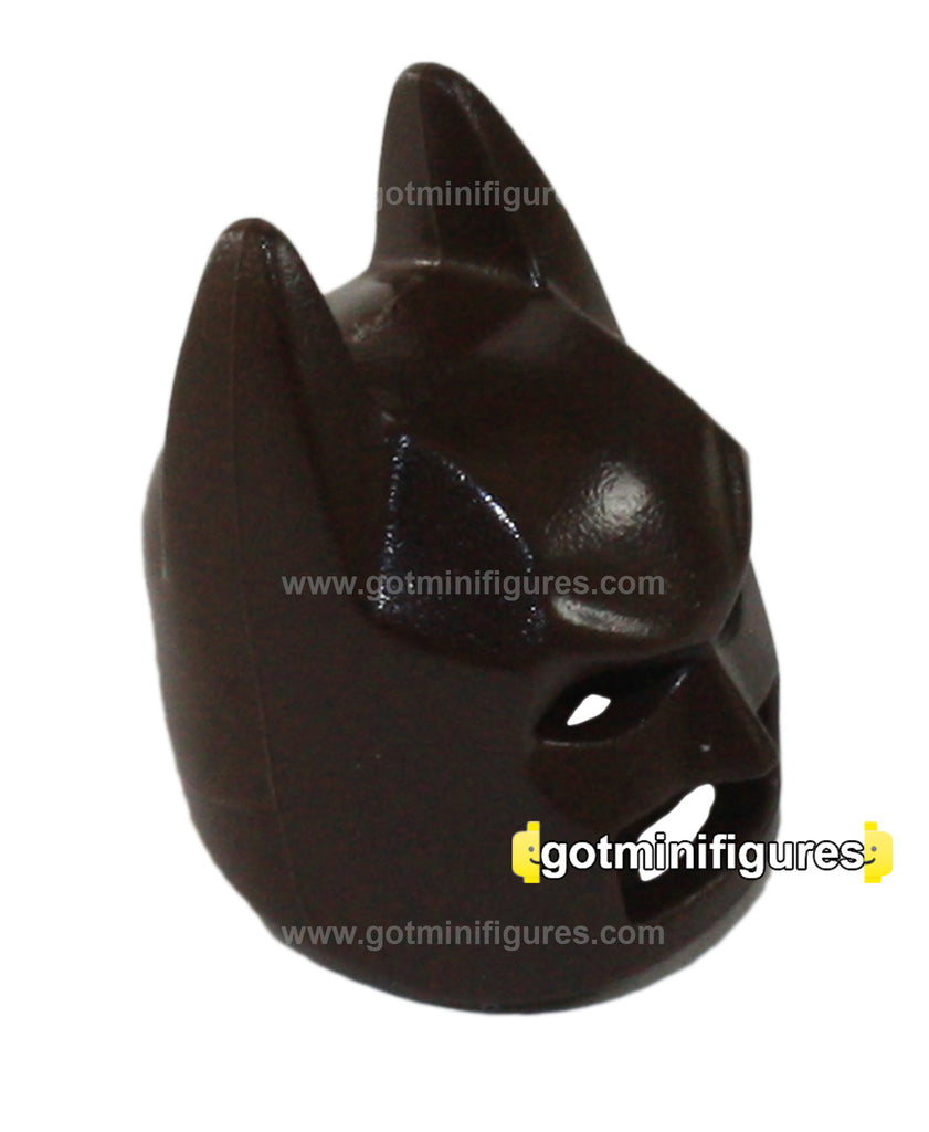 LEGO BATMAN MASK dark brown cowl headgear for minifigure