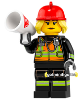 Series 19 LEGO FIRE FIGHTER minifigure #71025