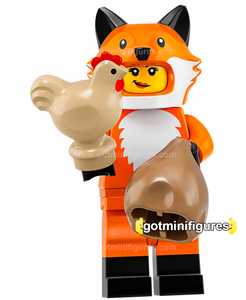Series 19 LEGO FOX COSTUME GIRL minifigure #71025
