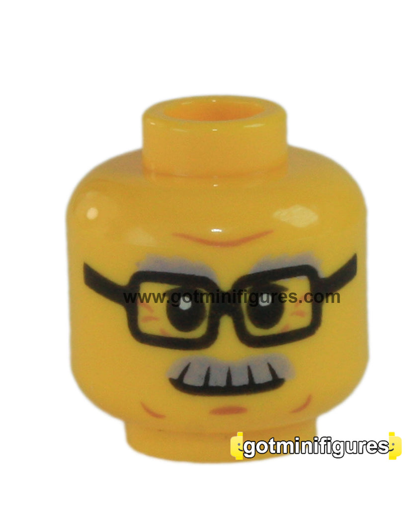 LEGO Head (Glasses, grey eyebrows, moustache, old man)