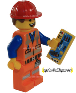 The LEGO MOVIE Series - HARD HAD EMMET - minifigure NEW 71004