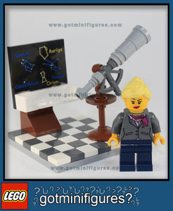 LEGO FEMALE SCIENTIST Research Institute 1 Constellations/Telescope set minifigure #21110