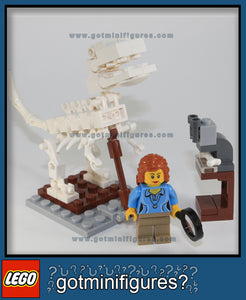 LEGO FEMALE SCIENTIST Research Institute 2 Dinosaur/Microscope set minifigure #21110