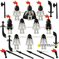 LEGO INVASION SKELETON Army Black Fire minifigures X10