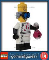 LEGO SERIES 14 - MONSTER SCIENTIST - Monsters minifigure #71010