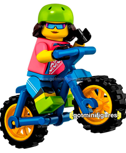Series 19 LEGO MOUNTAIN BIKER minifigure #71025