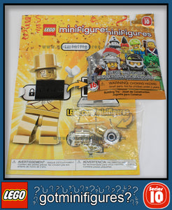 Series 10 LEGO MR GOLD (super rare) minifigure  71001